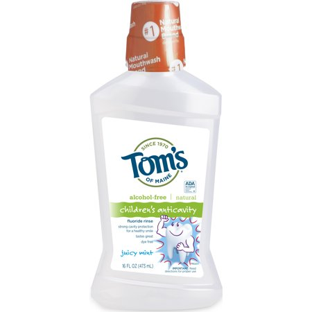- Tom's of Maine Children's Anticavity Juicy Mint Fluoride Rinse, 16 fl oz