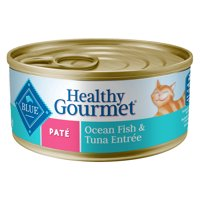Blue Buffalo Healthy Gourmet Natural Adult Pate Wet Cat Food, Ocean Fish & Tuna Entree, 5.5 oz. Can