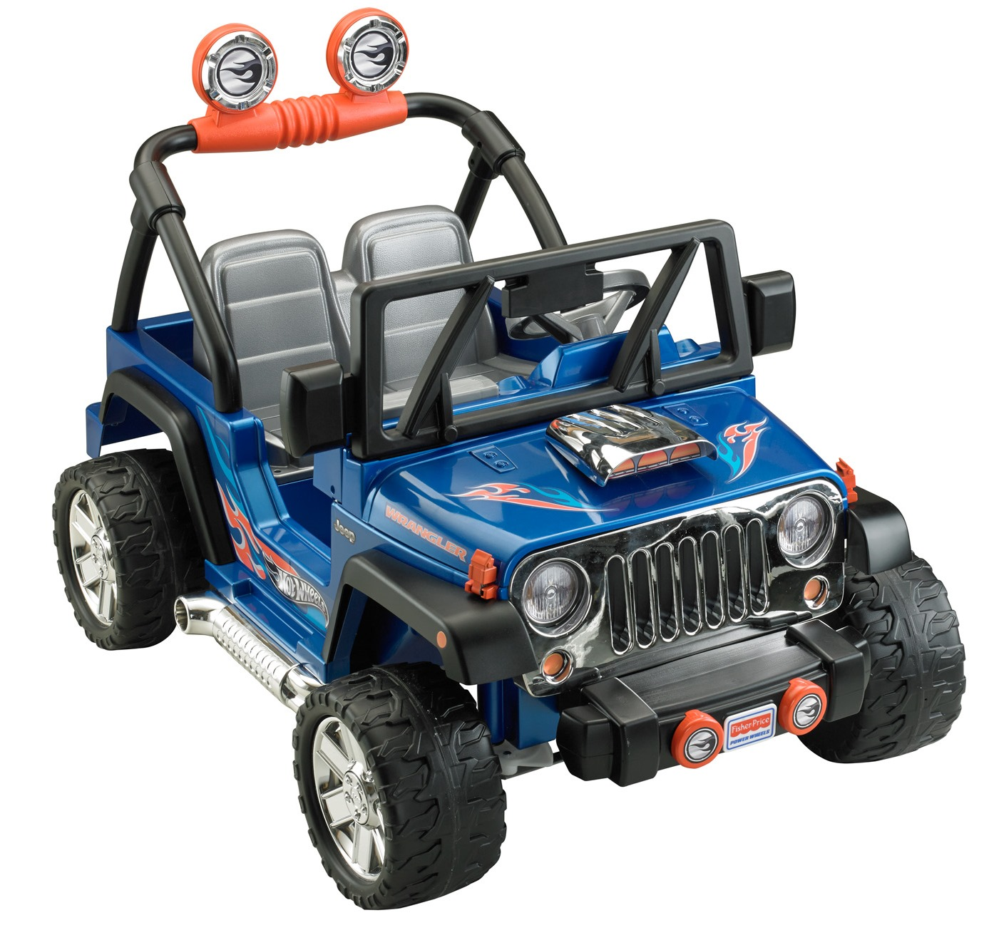 Coming Kids Jip.Power Wheels Hot Wheels Jeep Wrangler Blue Ride On Walmart Com