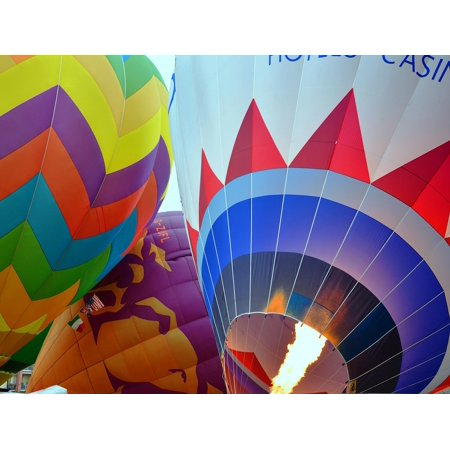 Laminated Poster Hot Air Balloons Colors Sky 24x16 Adhesive Decal