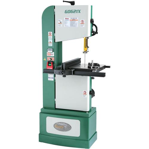 "Grizzly G0621X 13-1/2"" 1-1/2 HP 3-Phase Vertical Wood/Metal Bandsaw"