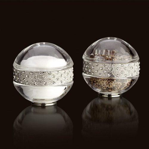 L'Objet Spice Jewels Pave Band Salt & Pepper Set, Platinum