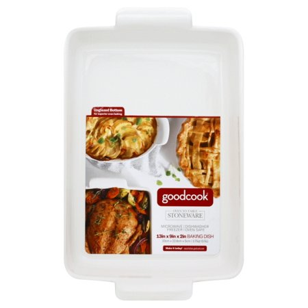 Bradshaw 04152 Good Cook Ceramic Rectangle Bakeware, 3.75 Quart