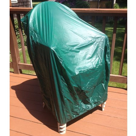 Vinyl Outdoor Chair Cover - 35-inch Vinyl Waterproof Durable Outdoor Patio Chair Cover, Green