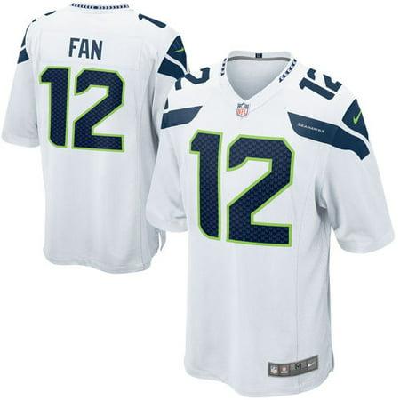 low priced ef151 00aa9 Mens Seattle Seahawks Fan 12 Nike White Alternate Game Jersey