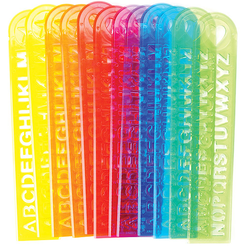 Party Favors - 12-Pack, Alphabet Rulers
