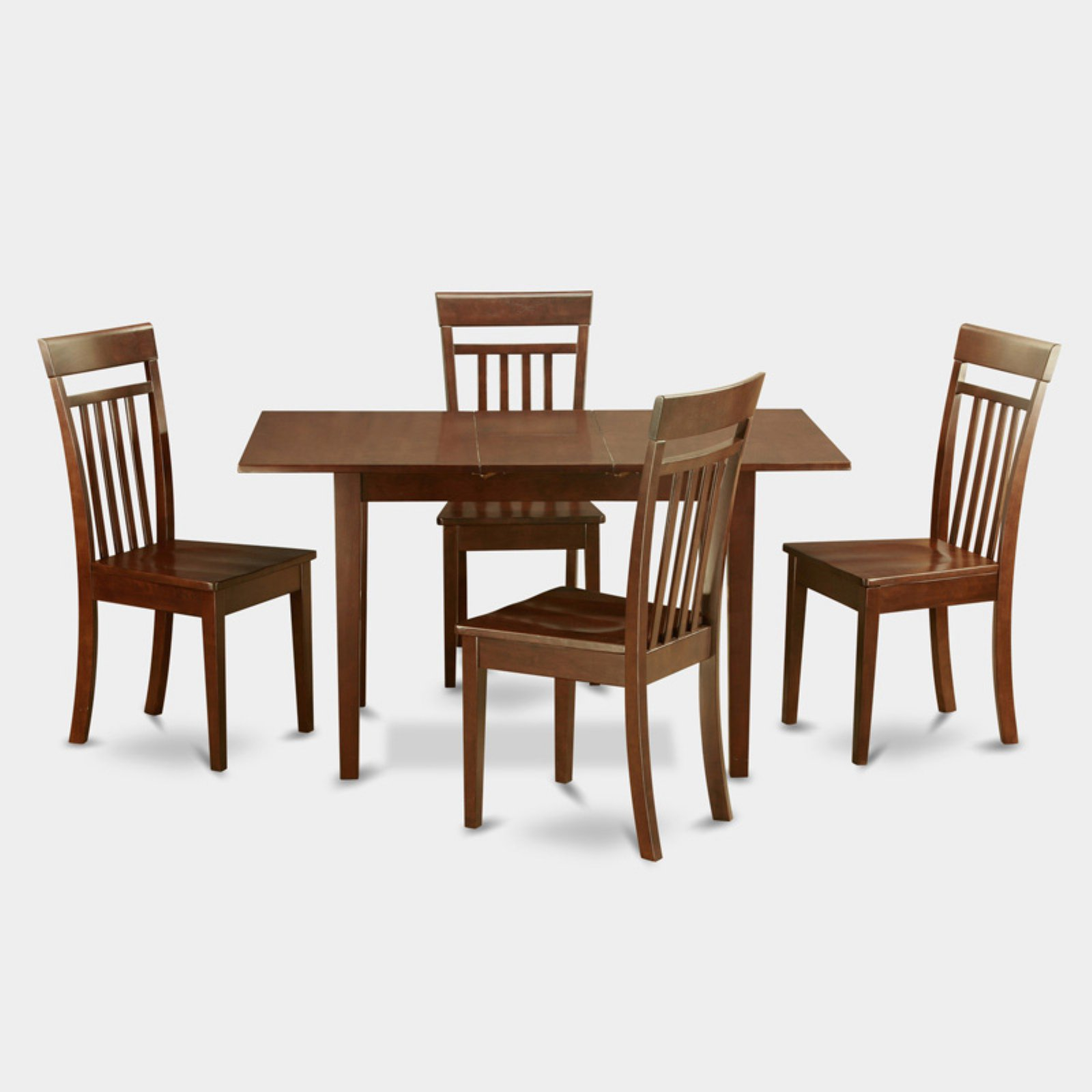East West Furniture Norfolk 5 Piece Sheraton Dining Table Set