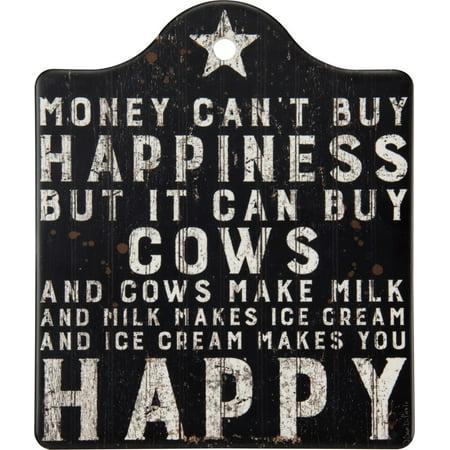 Hoppy Ice - Ice Cream Makes Me Happy Stone Trivet, 6.50