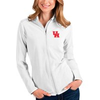 Houston Cougars Antigua Women's Glacier Full-Zip Jacket - White