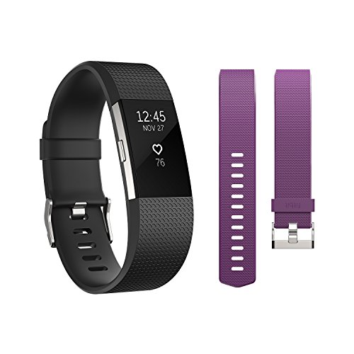 Refurbished Fitbit FB407SBKS  Charge 2 Activity Tracker + Heart Rate