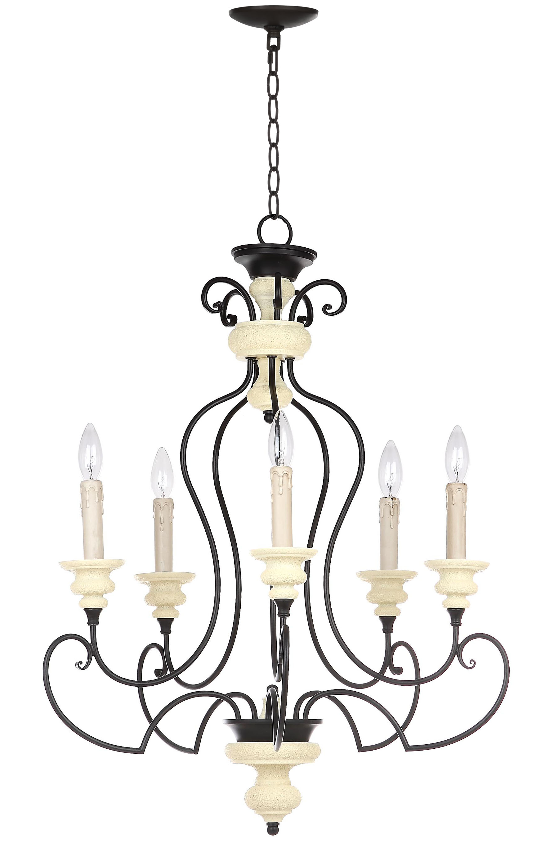 Safavieh Hanna 24 In Dia Adjustable Chandelier Black