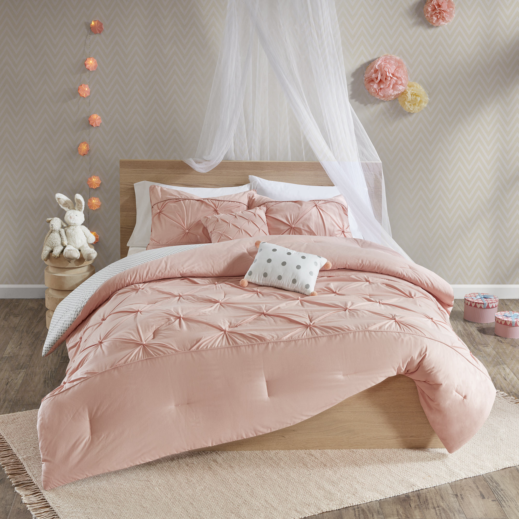 Home Essence Kids Melody Reversible 100% Cotton Comforter Set