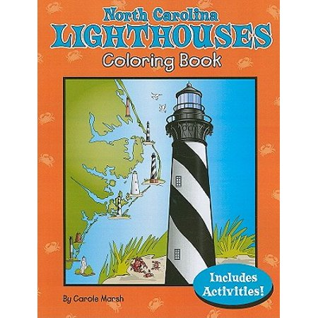 North Carolina Lighthouses Coloring Book