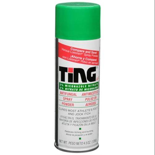 Ting Antifungal Spray Powder 4.50 oz (Pack of 6)