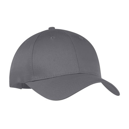 9055cecc892 Port   Company® - Six-Panel Twill Cap. Cp80 Charcoal Osfa - image ...