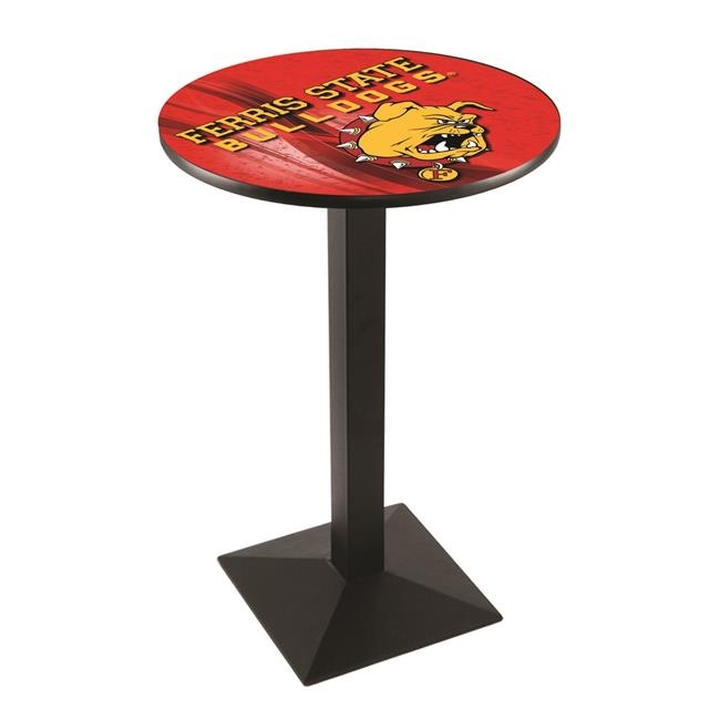 Holland Bar Stool L217B3628FerrSt-D2 36 in. Ferris State Bulldogs Pub Table with 28 in. Top - image 1 de 1
