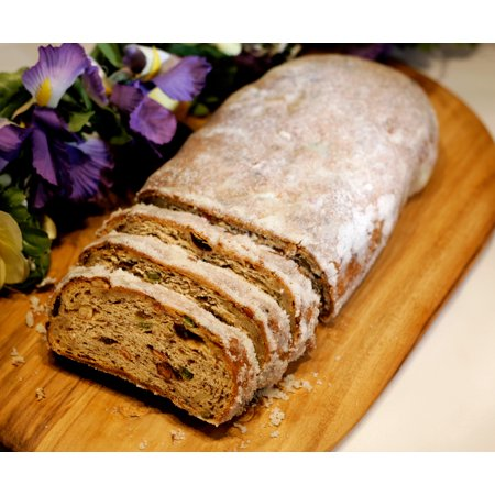 Traditional Christmas Stollen - 1.5lb European Cake w/ Raisins & Almonds