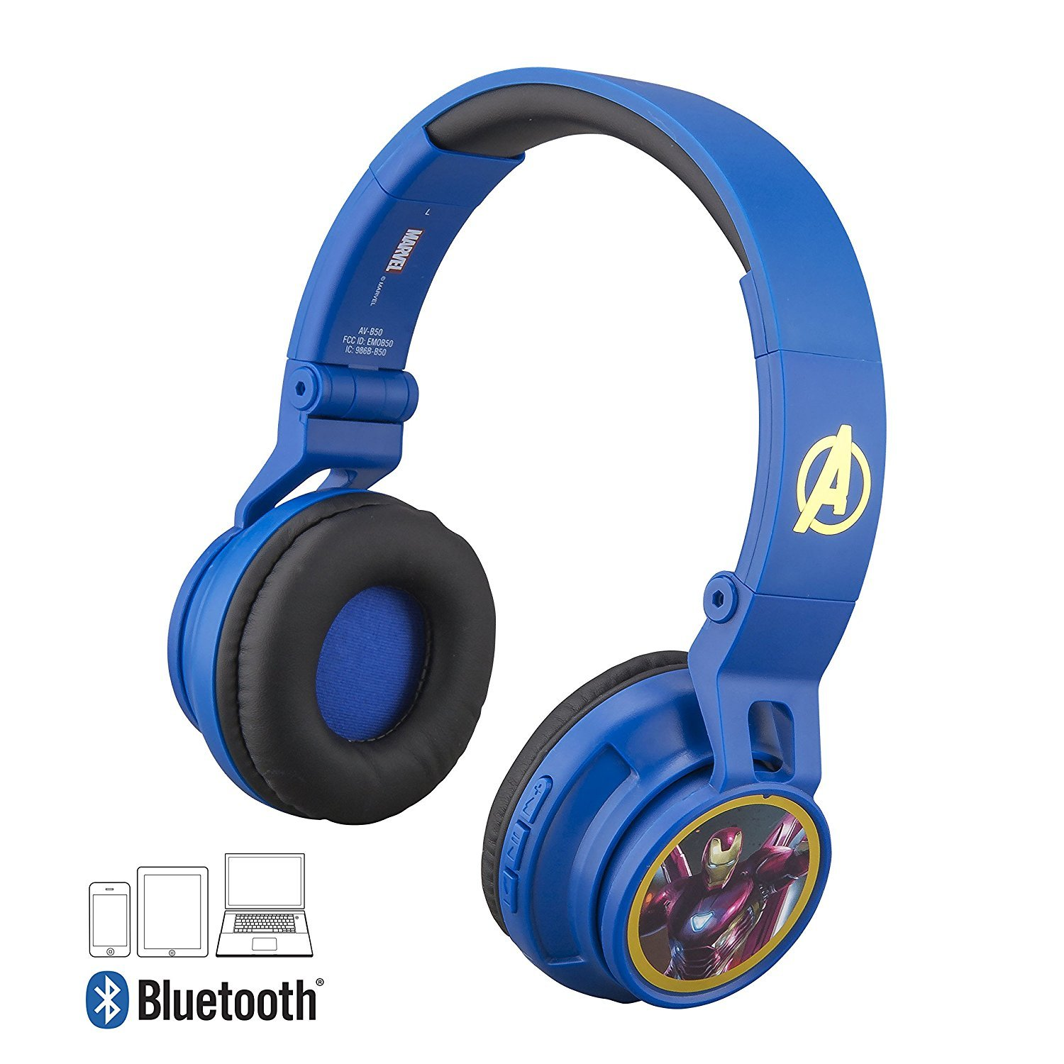 Avengers Infinity War Bluetooth Headphones for Kids Wireless Rechargeable Kid Friendly Sound (Avengers Infinity War)