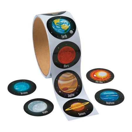 Solar System Stickers (Solar System / Planets Stickers, 1.5