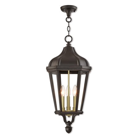 Livex Lighting Morgan 3 Light Outdoor Pendant (Morgan Hanging Lantern)