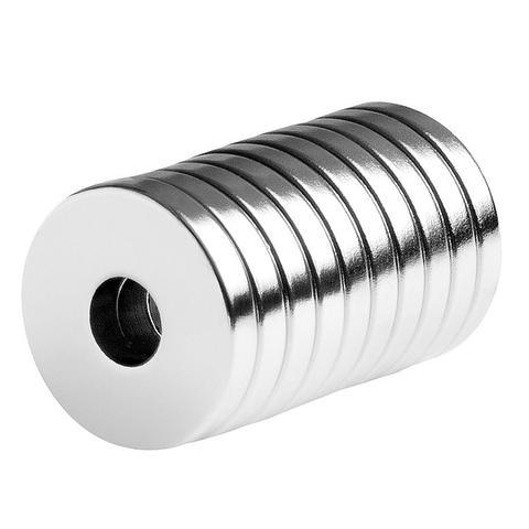 totalElement 3/4 x 1/4 x 1/8 Inch Strong Neodymium Rare Earth Ring/Donut Magnets N48 (10 Pack)