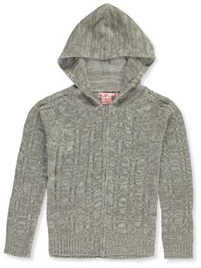 Pink Angel Girls' Cable Knit Hooded Cardigan