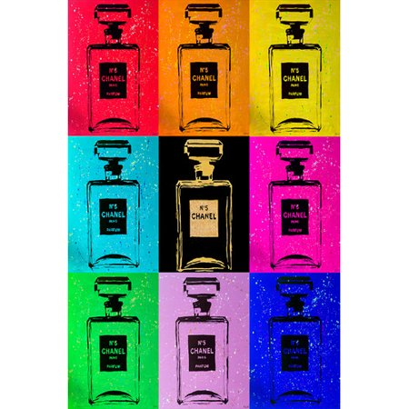 Buy-Art-For-Less-Chanel-Chic-by-Pop-Art-Queen-Graphic-Art-on-Wrapped-Canvas