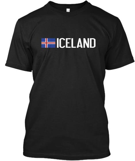 Iceland and Icelandic Flag Hanes Tagless Tee T-Shirt