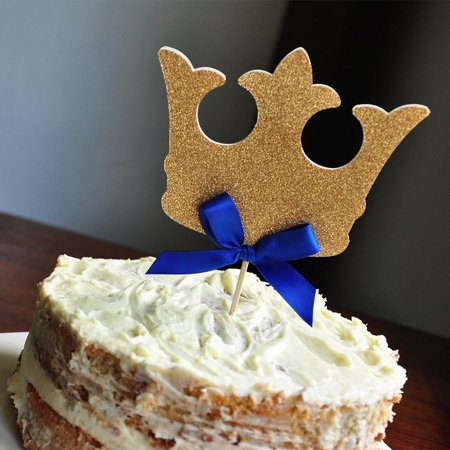 King Crown Cake Topper.  Ships in 1-3 Business Days.  Royal Prince Baby Shower Decorations.](King Cake Babies)