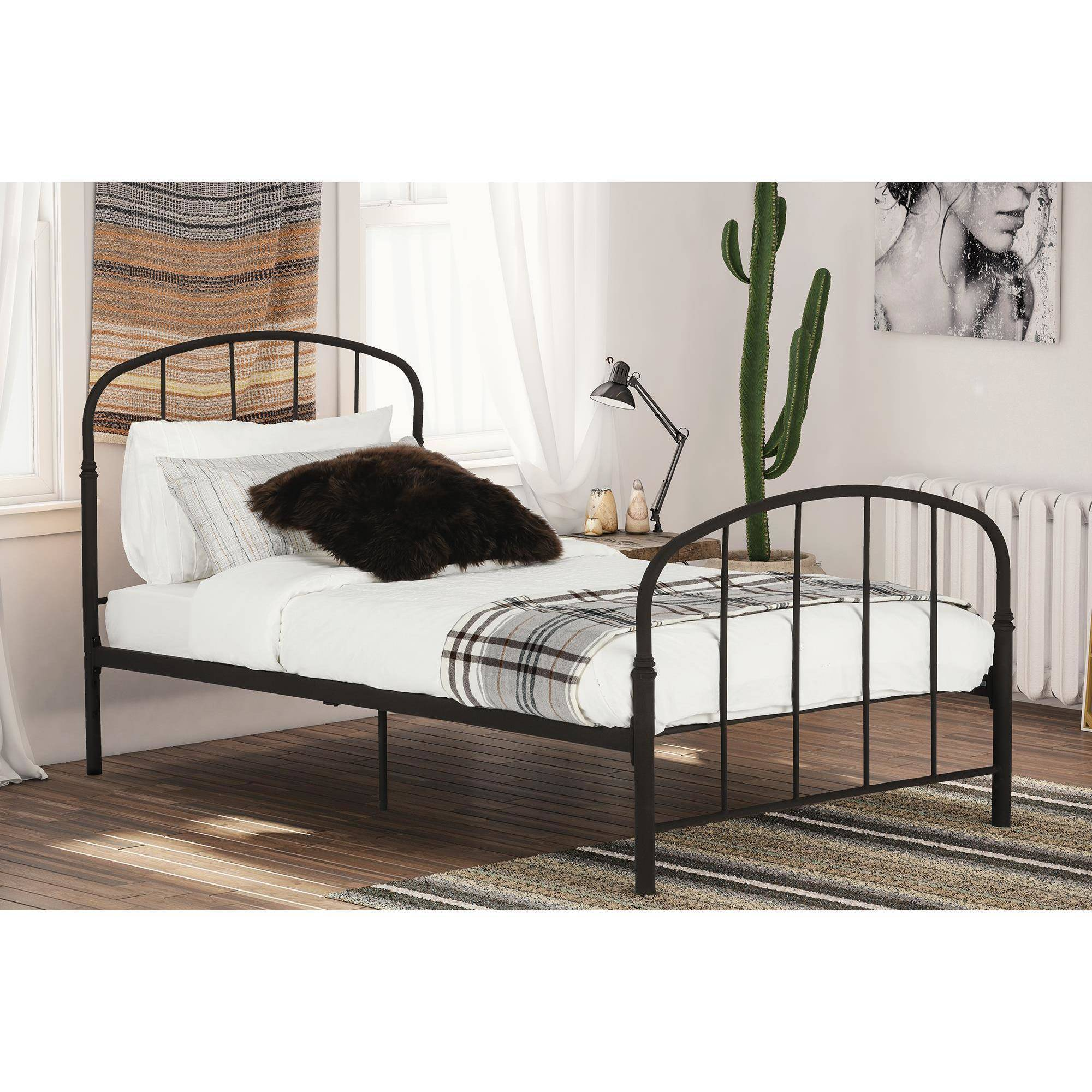 DHP Lafayette Metal Bed, Multiple Sizes, Multiple Colors