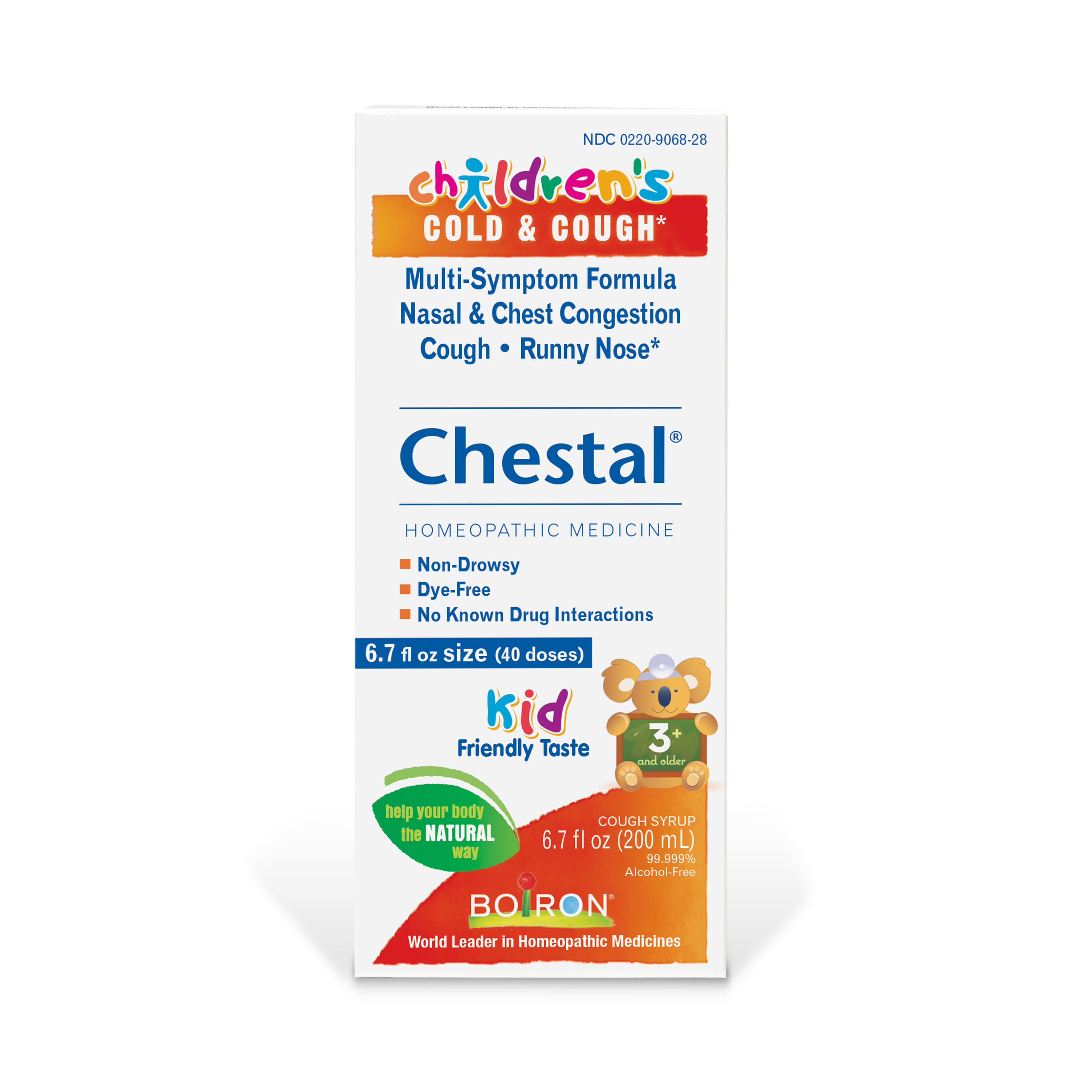 Boiron Chestal Children's Honey Cold & Cough Relief, 6.7 Fl Oz