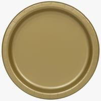 Gold Paper Dessert Plates, 7in, 50ct