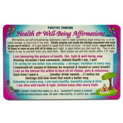 Inner Light Resources - Orginal Wallet Cards, Health Affirmations, 1 ea
