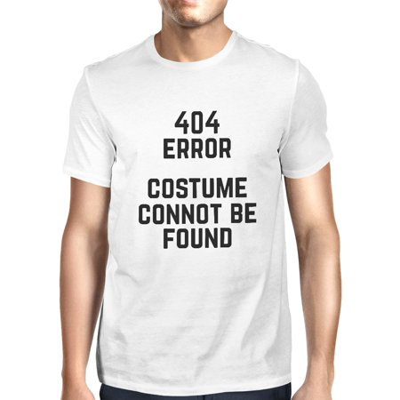 Custom Menu Cover - 404 Error Custom Not Found T-shirt Halloween Tee Mens Cute Shirt