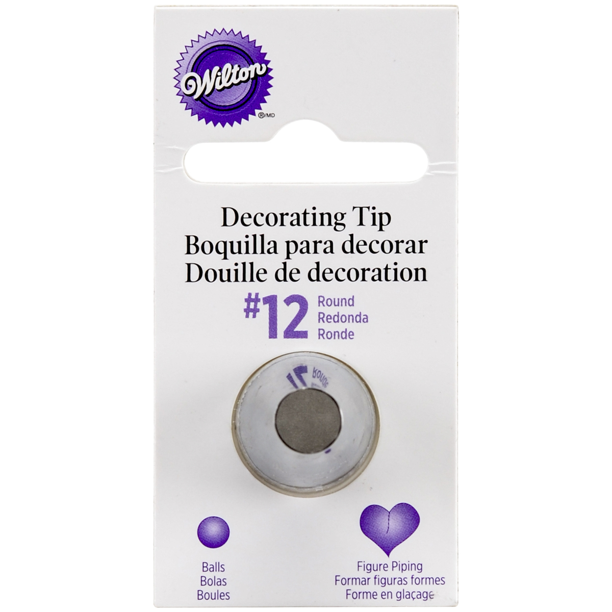 Wilton Decorating Tip, No.12 Round Multi-Colored