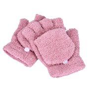 Girls Women Ladies Hand Wrist Warmer Winter Fingerless Gloves Mitten PK