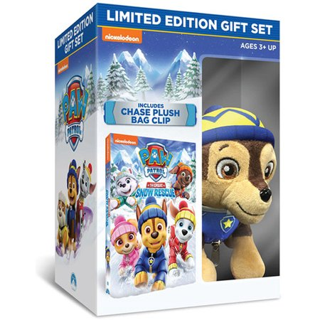 Chase Vanek Halloween 2 (Paw Patrol: The Great Snow Rescue (Limited Edition Gift Set) (Walmart Exclusive) (DVD + Chase Plush Bag)