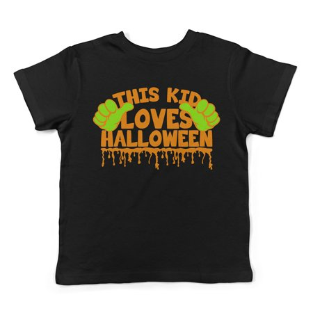 Lil Shirts This Kid Loves Halloween Toddler T-Shirt