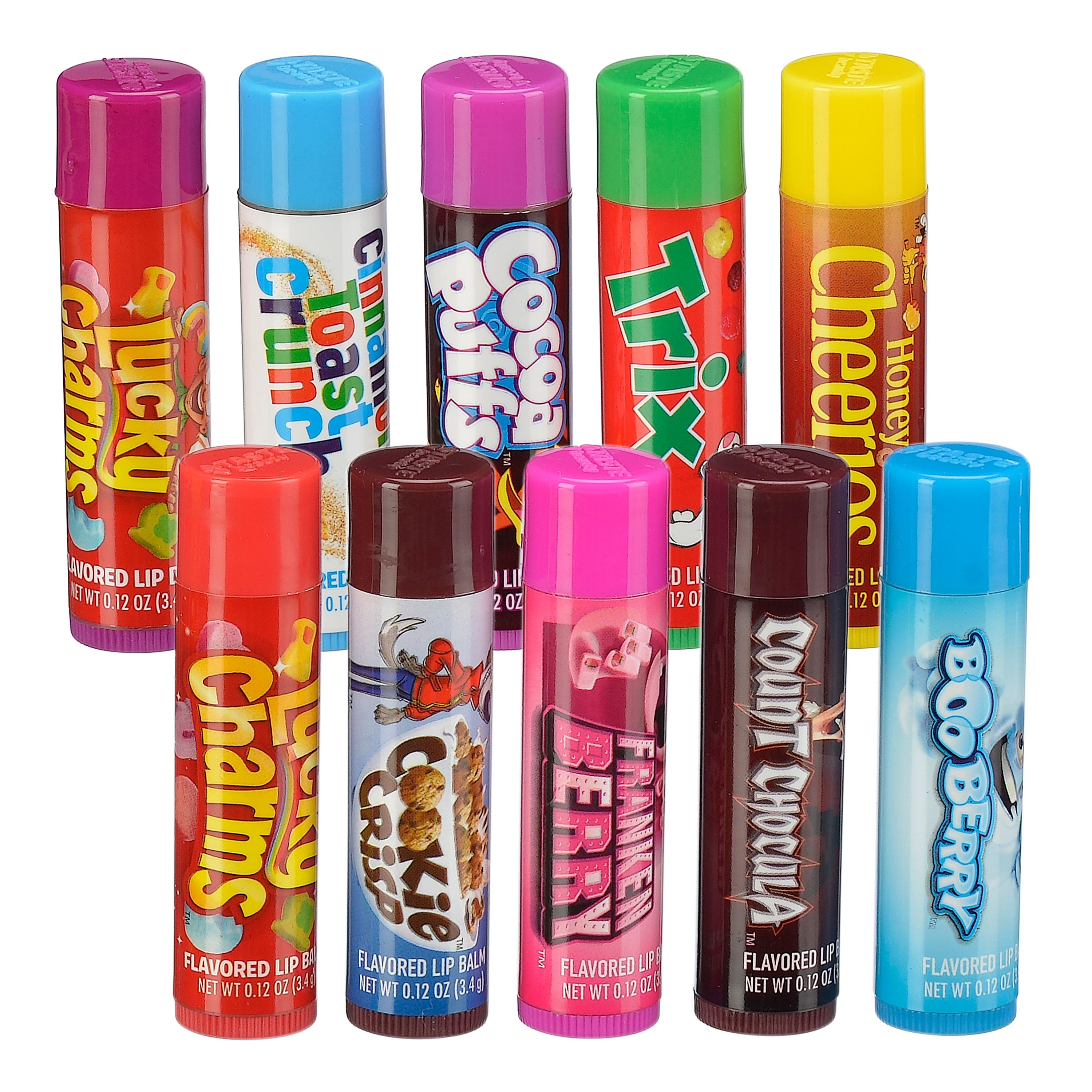 General Mills Breakfast Pack Cereal Flavored Lip Balm, 10 Pieces ($9.99 Value)