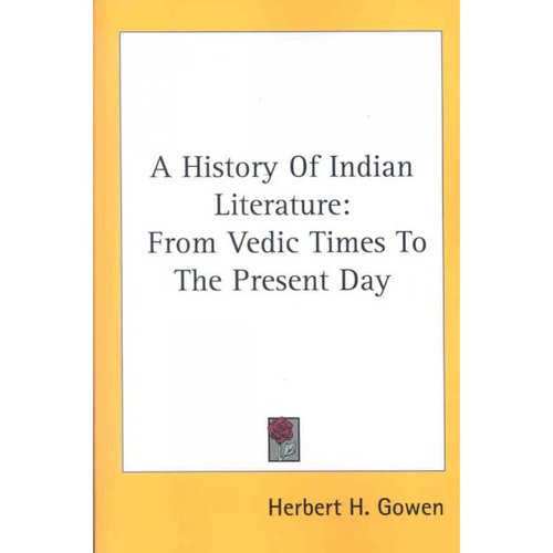 A History of Indian Literature: From Vedic Times to the Present Day