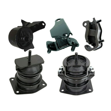 K0437 Fits 2000-2003 Acura TL 3.2L Engine Motor & Transmission Mount Set 5 PCS : A4519HY, A6552, A4507HY, A6582, A6579
