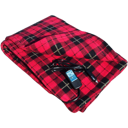 Car Cozy - Heated Travel Blanket - Red Plaid