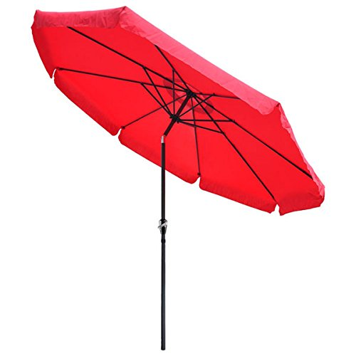 10 Foot Tilt Outdoor Patio Umbrella Furniture Red