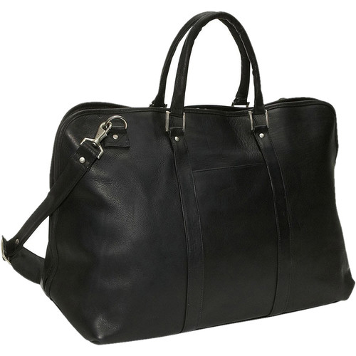 David King 19'' Large Opening Leather Travel Duffel