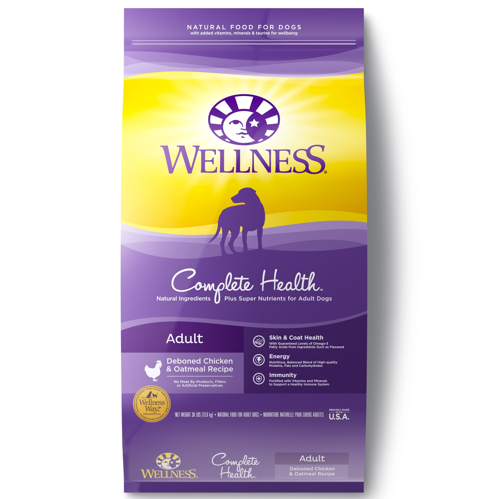 Wellness Complete Health Chicken & Oatmeal Recipe Dry Dog Food, 30 lb
