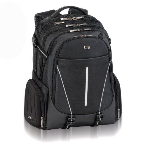 "Solo Active Carrying Case [backpack] For 17.3"" Notebook - Black, White - Polyester - Handle, Shoulder Strap (acv700-4)"