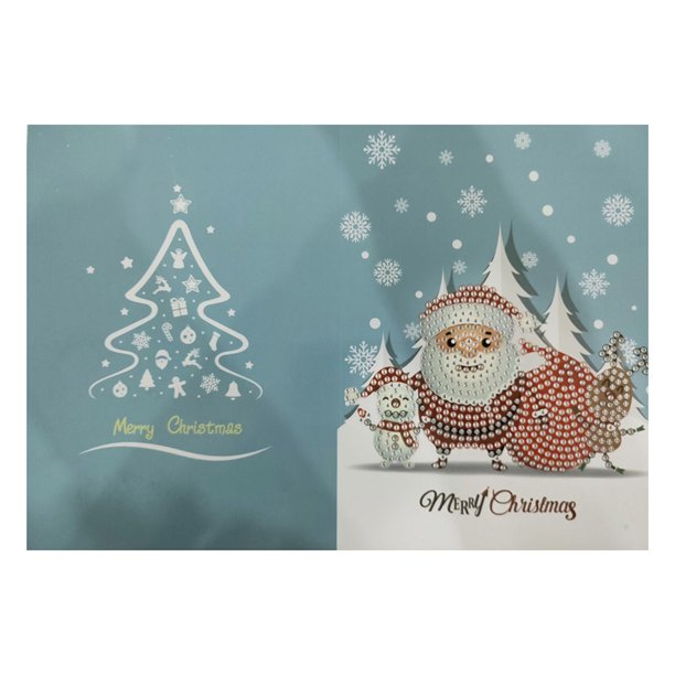 merry christmas cards diy diamond painting handmade card