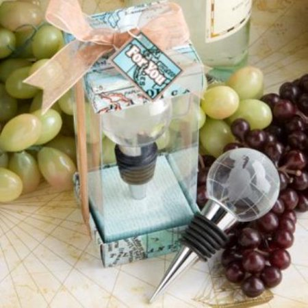 Glass Globe Design Wine Bottle Stopper Favors  pack of 60 ()