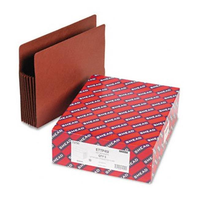 Smead 73795 Tuff Pocket 7   Expansion File Pockets  Straight  Letter  Redrope  5/Box