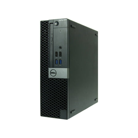 Refurbished Dell 5040-SFF Desktop PC with Intel Core i7-6700 3.4GHz Processor, 8GB Memory, 480GB SSD and Win 10 Pro (64-bit) (Monitor Not Included)